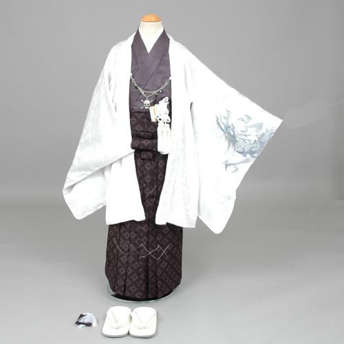 七五三 袴 しゃれこうべの羽織紐の衣装画像1