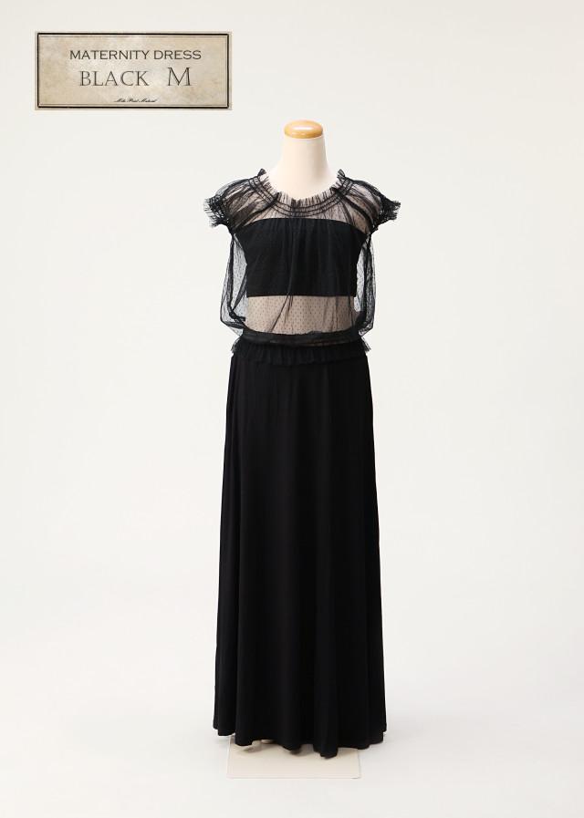 マタニティドレス 黒 Mサイズの衣装画像1