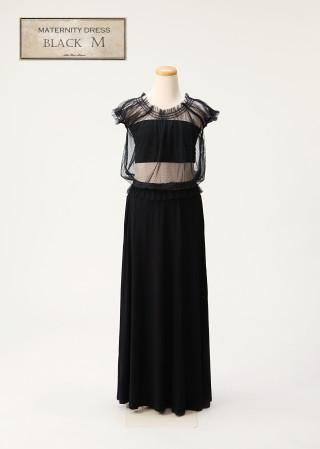 No.6 マタニティドレス 黒 Mサイズ