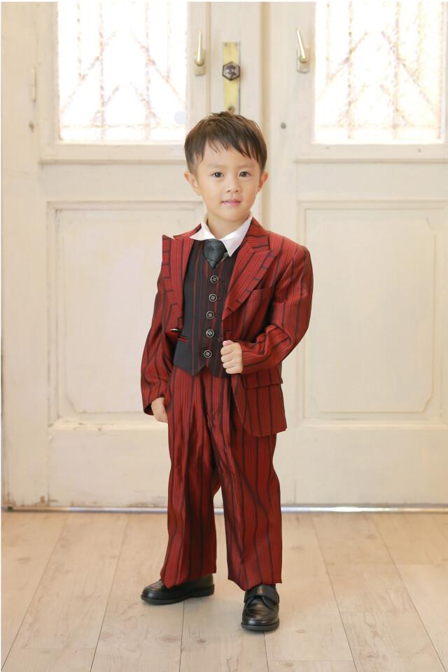 赤/ストライプの衣装画像1