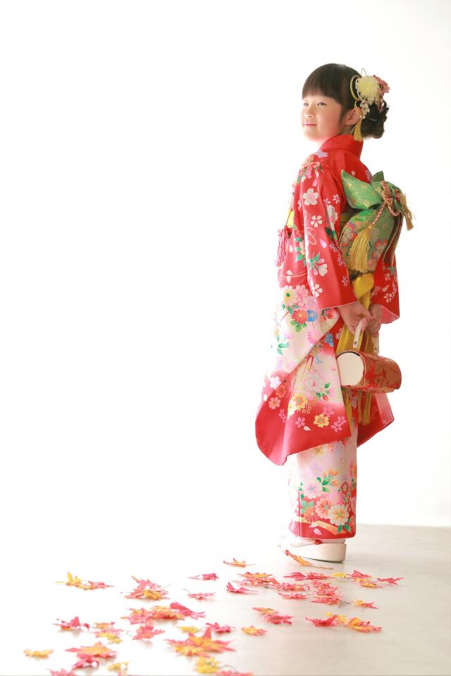 赤/着物の衣装画像1
