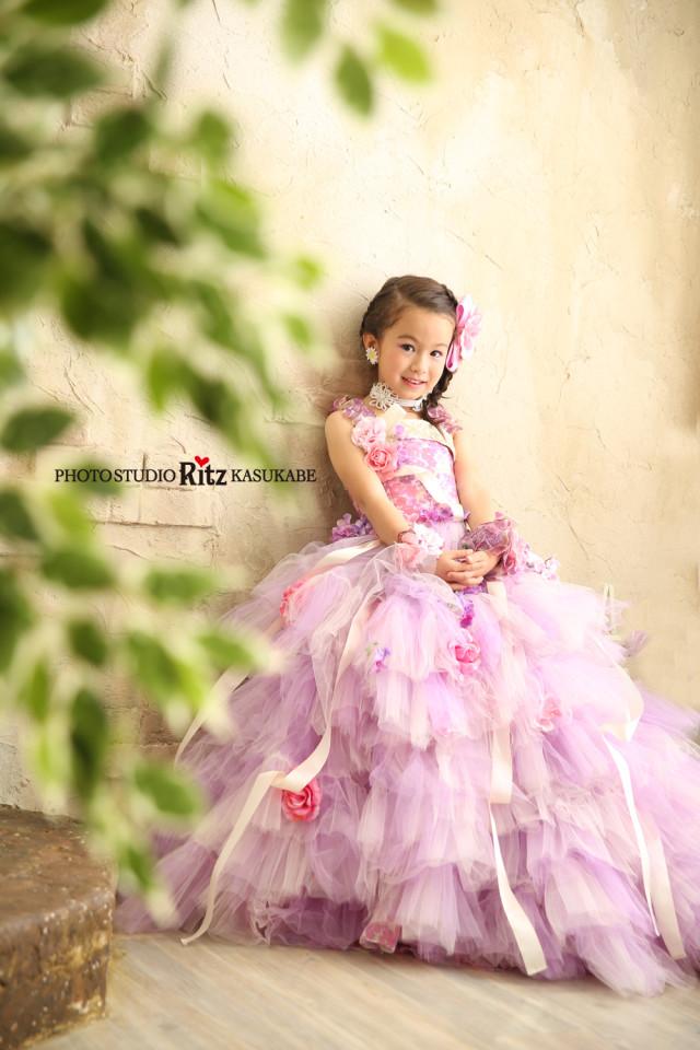 ハニーフラワー 紫 ドレスの衣装画像1