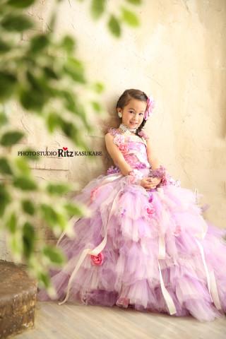 No.2687 ハニーフラワー 紫 ドレス