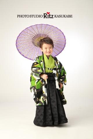 ジャパンスタイル 緑 龍 袴