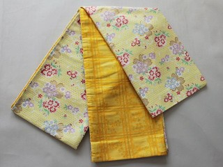 激安 新柄 七歳用女児の仕立て済交織袋帯・祝帯 V7415-03