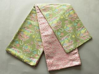 激安 新柄 七歳用女児の仕立て済交織袋帯・祝帯 V7415-05
