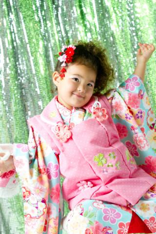 3歳女の子 水色×ピンク