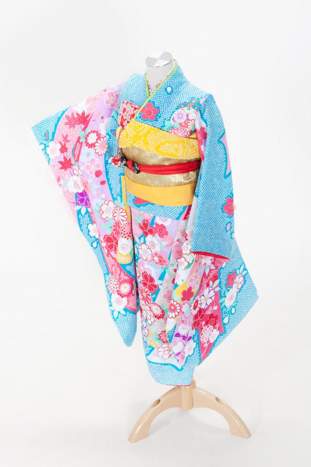 伝統あるしぼりの着物の衣装画像1