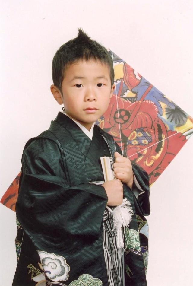 五歳祝い着の衣装画像2