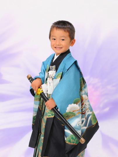 正絹5歳羽織袴の衣装画像1