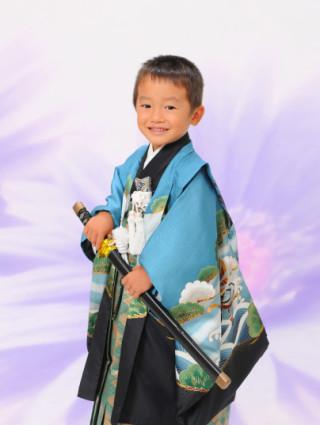 No.1336 正絹5歳羽織袴
