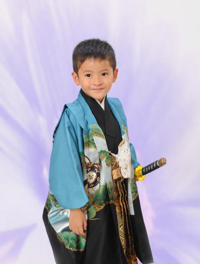 正絹5歳羽織袴の衣装画像2