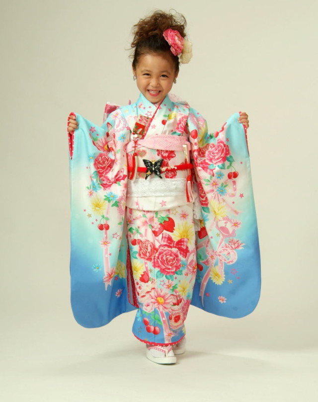 正絹七五三着物 7歳女児の衣装画像1