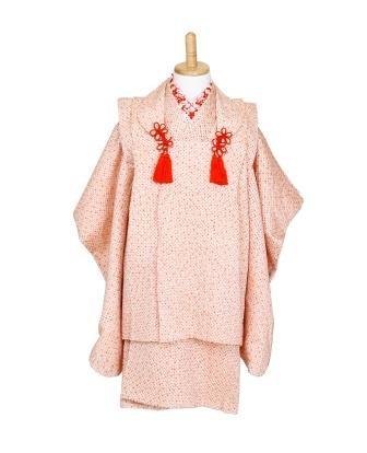 (T40)ピンク地絞り 被布セットの衣装画像1