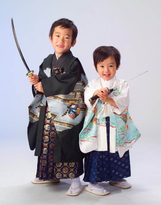 5才3才 羽織 兄弟の衣装画像1
