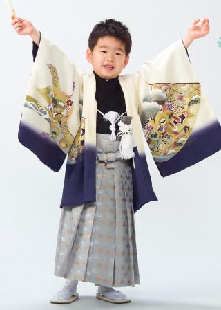 No.362 5才 クリーム紫モダン