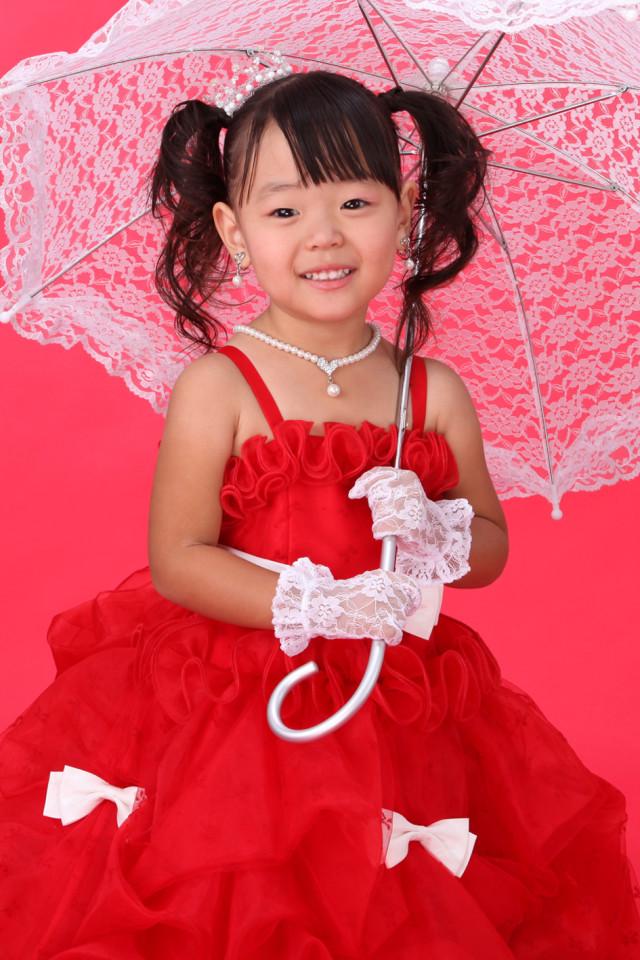 2-4歳真っ赤なドレスの衣装画像1