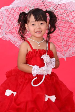 No.600 2-4歳真っ赤なドレス