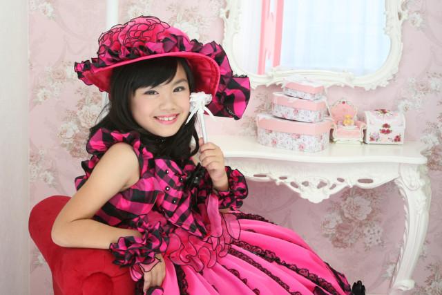 6-8歳ピンクハートの衣装画像1