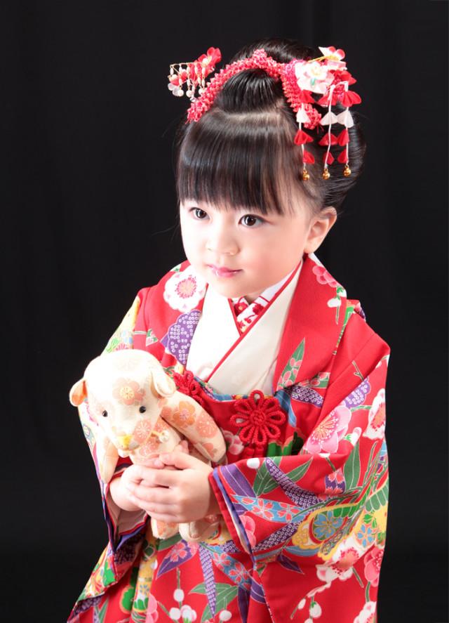 七五三 三歳 被布の衣装画像2