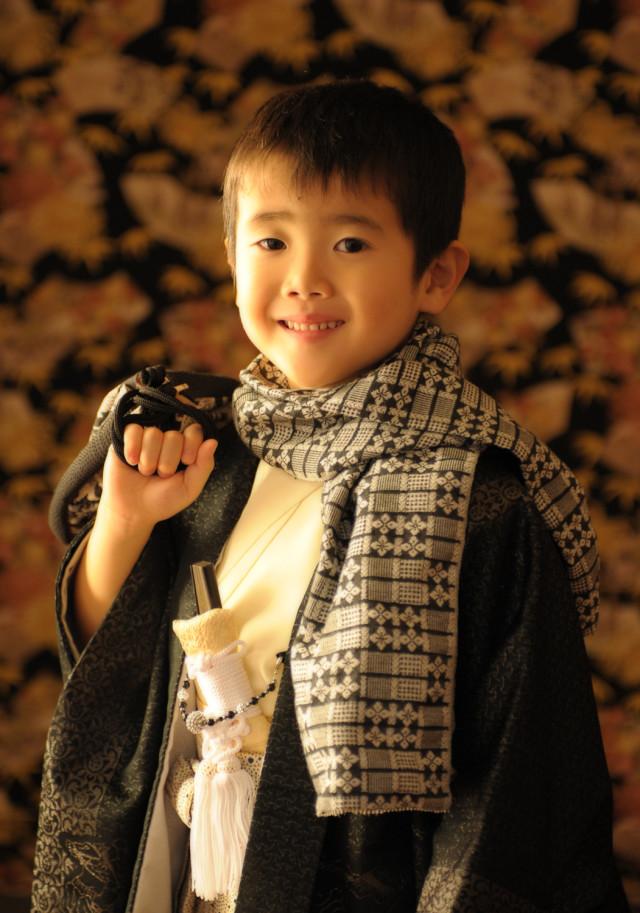 5歳 羽織袴 ひさかたろまんの衣装画像1