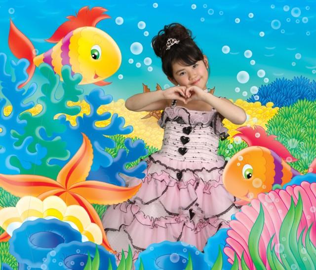 7歳ピンクドレスの衣装画像1