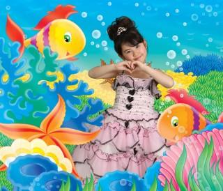 7歳ピンクドレス