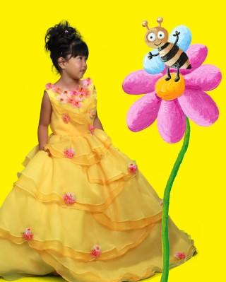 No.938 3歳黄色ドレス