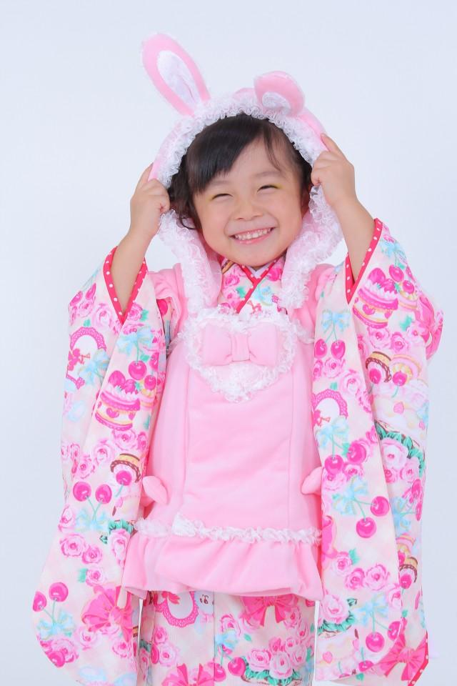 七五三 3歳 女の子きものの衣装画像1