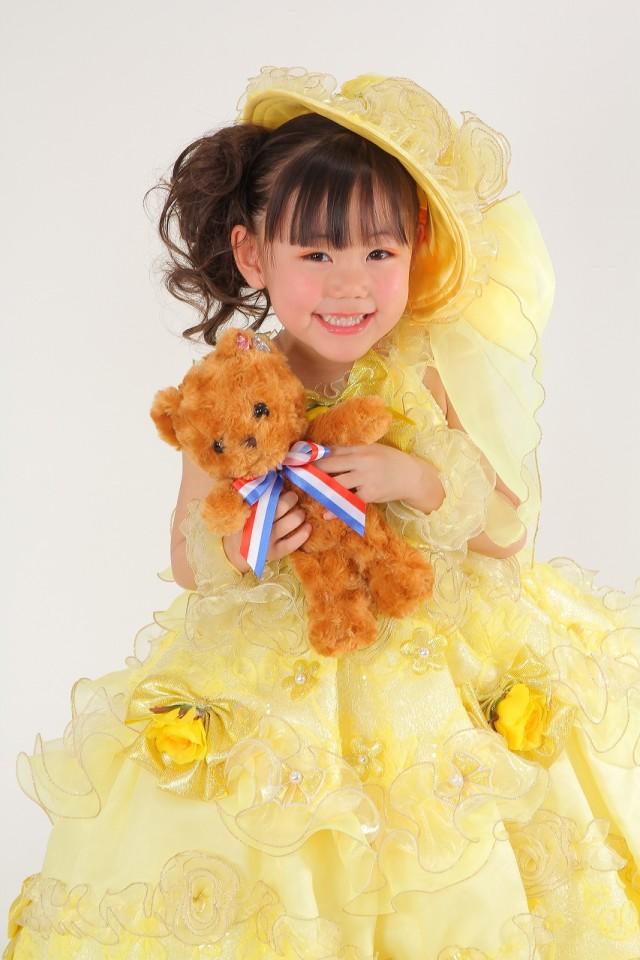 七五三 3歳 女の子用ドレスの衣装画像1
