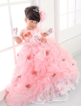 No.1146 ピンクのバラ尽くしドレス