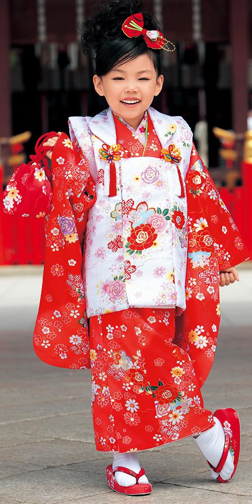 3歳お祝い着№318(身長85~100cmの方用)の衣装画像1