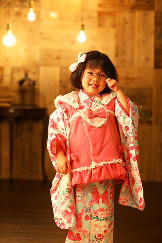 七五三 被布(ピンク・水色)の衣装画像1
