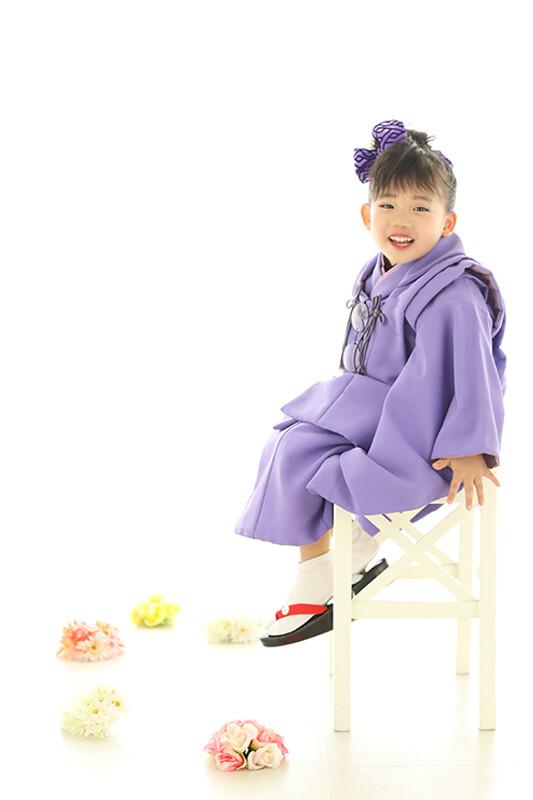 七五三 被布(紫)の衣装画像1