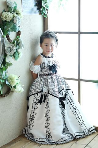 No.1329 女児 ドレス(白)