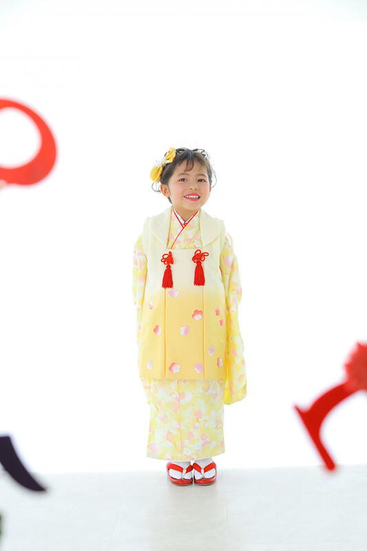 七五三 被布(黄色)の衣装画像1