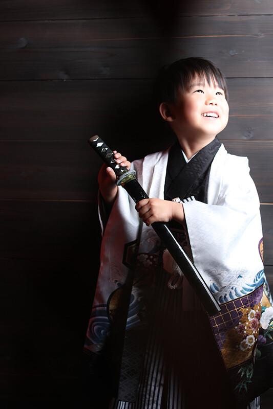七五三 羽織袴(白)の衣装画像1