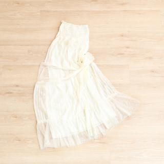 マタニティドレス純白ワンピースタイプ