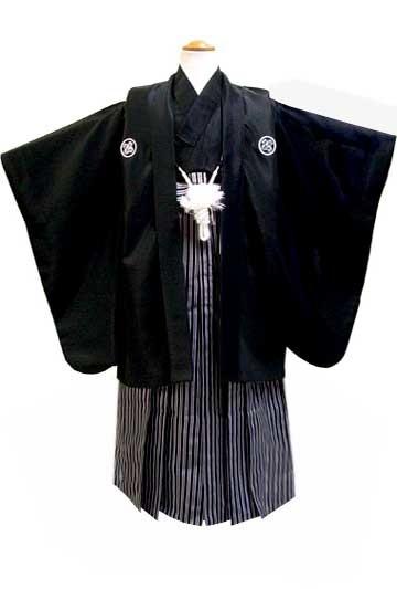 七五三着物レンタル(五歳)(ひさかたろまん)(黒紋付) No.5G-13の衣装画像1