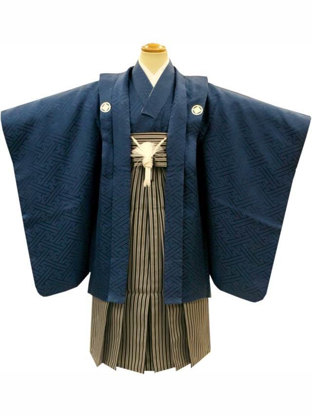 七五三着物レンタル(五歳)(正絹)(黒紋付) No.5G-12の衣装画像1