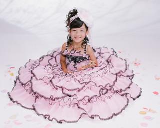 七五三記念写真人気のドレス