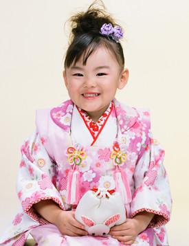 三歳女の子 被布の衣装画像1