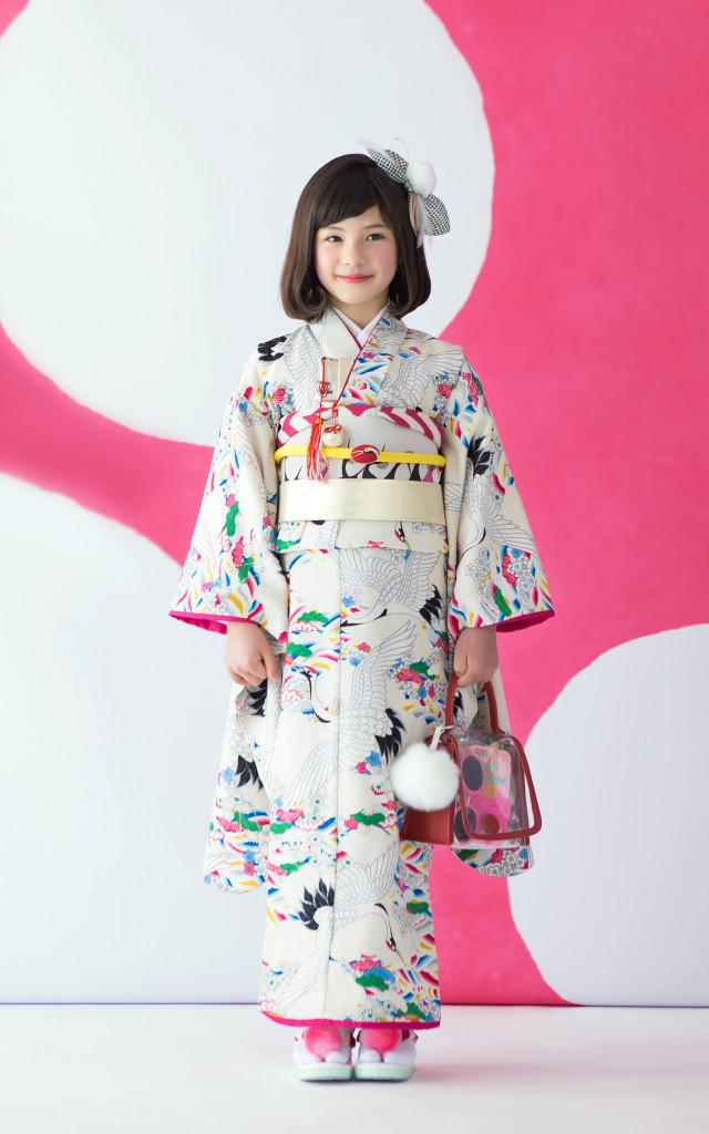 7歳用四つ身着物の衣装画像1