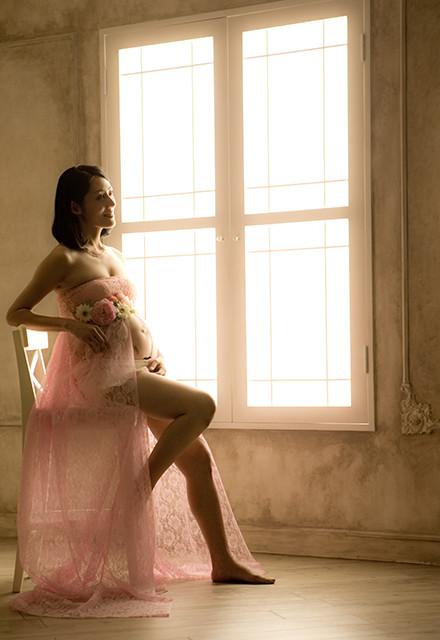 マタニティドレス ピンクの衣装画像1