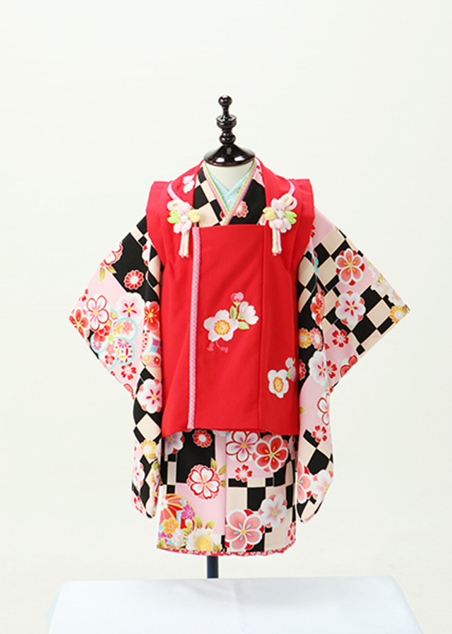 被布赤 市松模様の衣装画像1