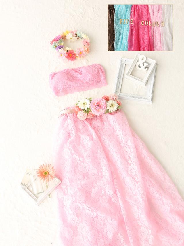 マタニティ ドレスセパレートタイプ 薄ピンクの衣装画像1