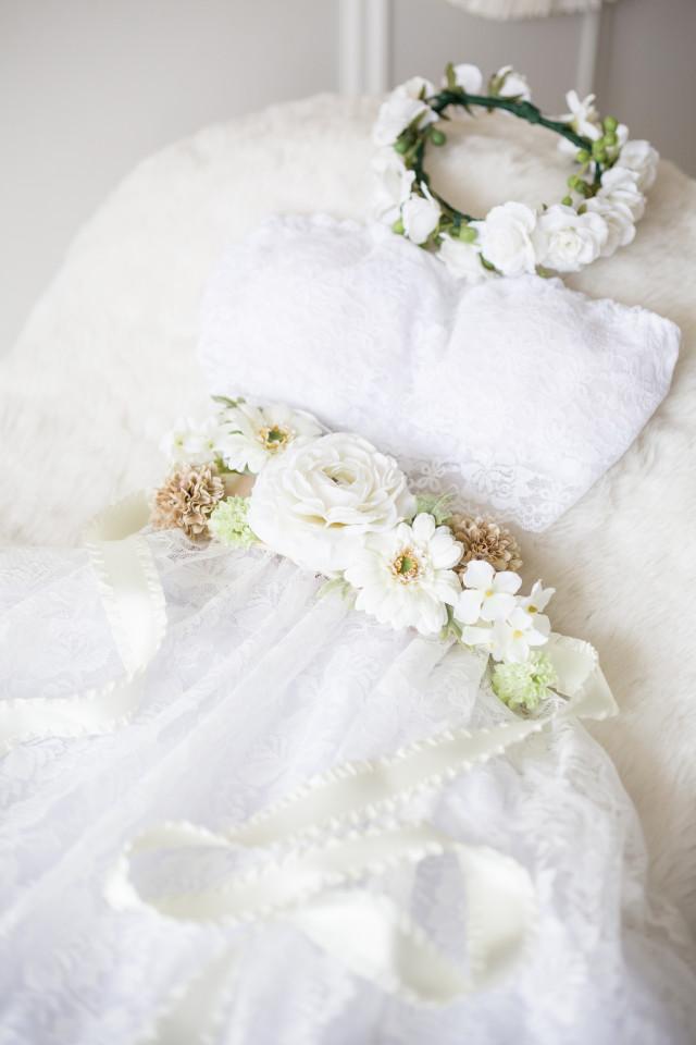 マタニティドレス ピュアホワイトの衣装画像1