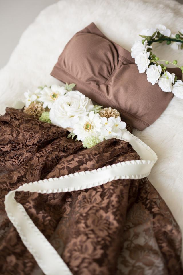 マタニティドレス ショコラブラウンの衣装画像1
