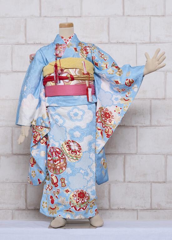空色しぼり(正絹)の衣装画像1