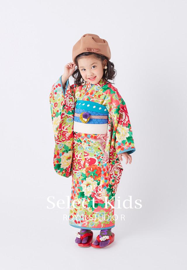 小紋柄着物の衣装画像1